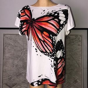 New St. John butterfly top Size M-L